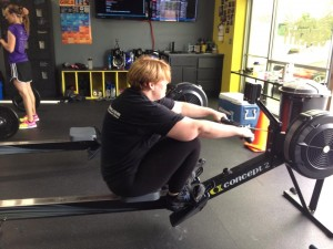 me on the rowing machine