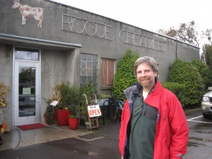 My friend Steve outside Rogue Dairy