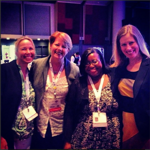 me & Mary Beth Coudal, Lisa Mar Jones & BlogHer founder CEO Lisa Stone