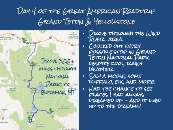 map for day 4 of my great American roadtrip