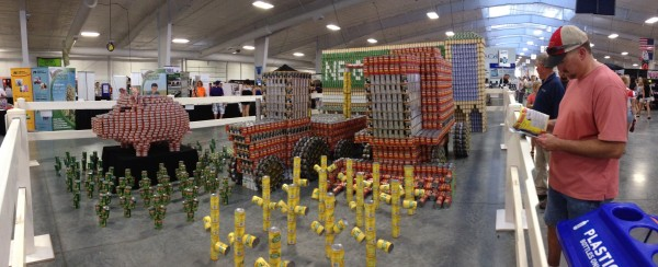 agriculture display at the Nebraska State Fair