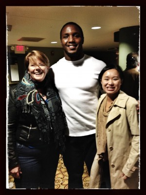That's Phoong & I with Robert Quinn of the St. Louis Rams :)