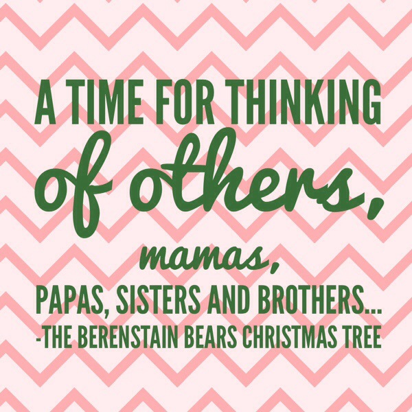 Berenstein Bears a time for thinking of others