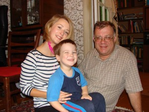 Sergey with his kids
