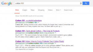 google search for cotton