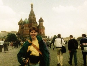 Janice in Red Square, St Basils Basilica