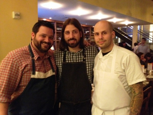 chefs Michael Hudman, Andy Ticer & Gerard Craft