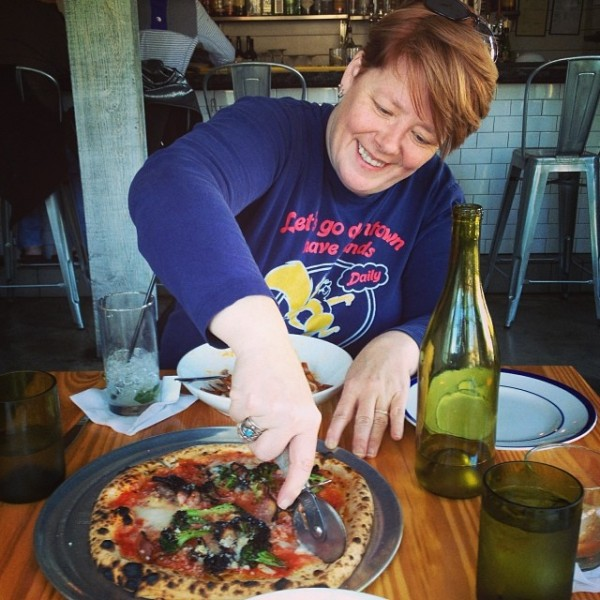 the brassica pizza at Hog & Hominy
