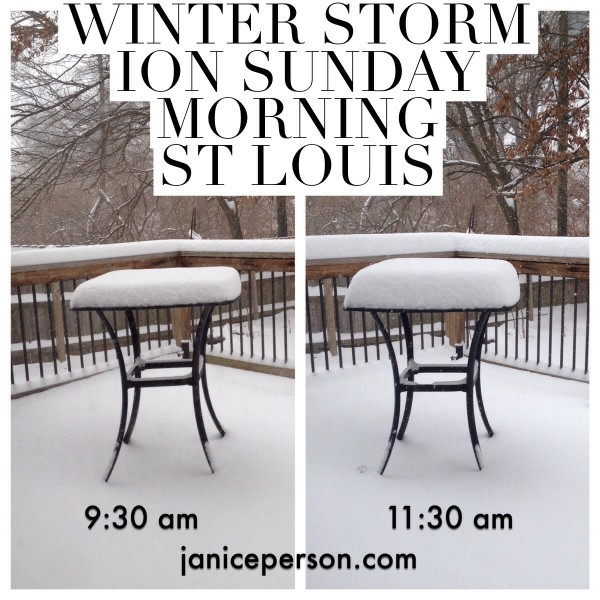 winter storm ion hits St. Louis