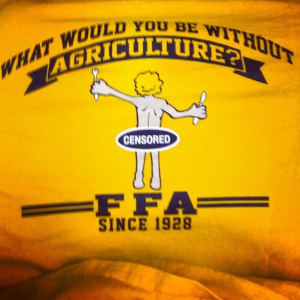 What would you be without agriculture? Naked & Hungry