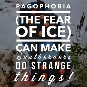 Pagophoboia (the fear of ice) can make Southerners do strange things!