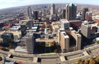 view from the St Louis Arch
