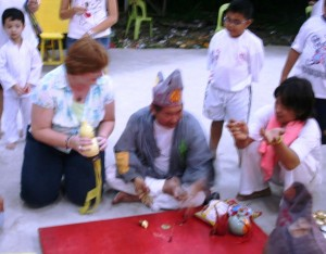 6 drinking rice wine & receiving a blessing from a religious leader