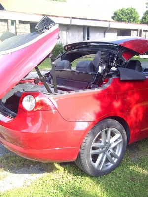 broken convertible top