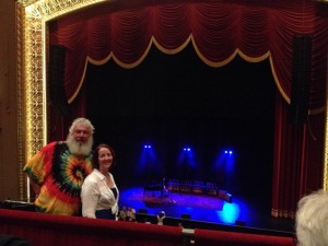 my sis & BIL at the Peabody Opera House