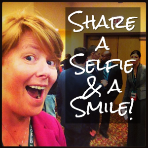 share a selfie and a smile