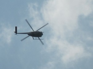 helicopter over Ferguson