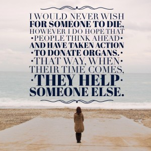 thoughts on organ donation