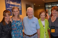 meeting President Carter for the first time