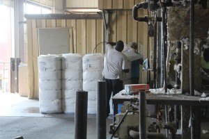 bales of cotton at the gin