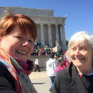 at the Lincoln Memorial DC
