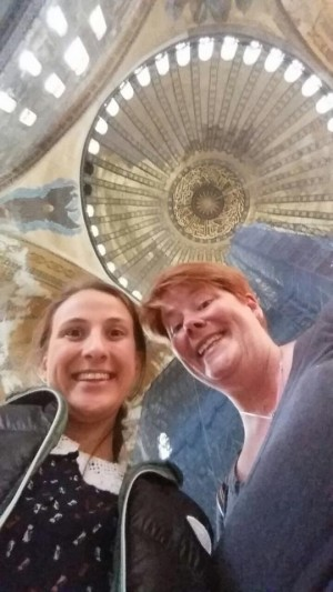 Nilay & me in the Hagia Sophia