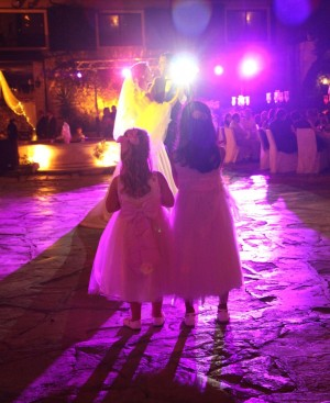 sweet girls at a magical wedding