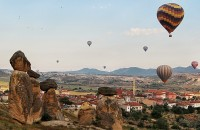 Turkish ballooning over fairy chimneys