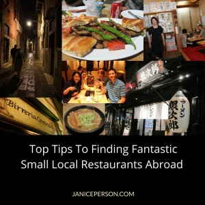 top tips for finding small local restaurants abroad