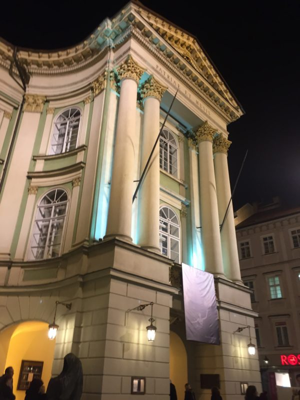 exterior of Prague Opera House
