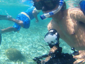 taking photos while snorkeling