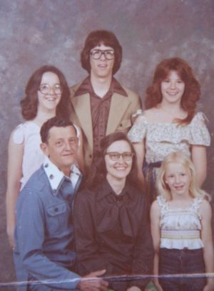 family photo from the late 70s